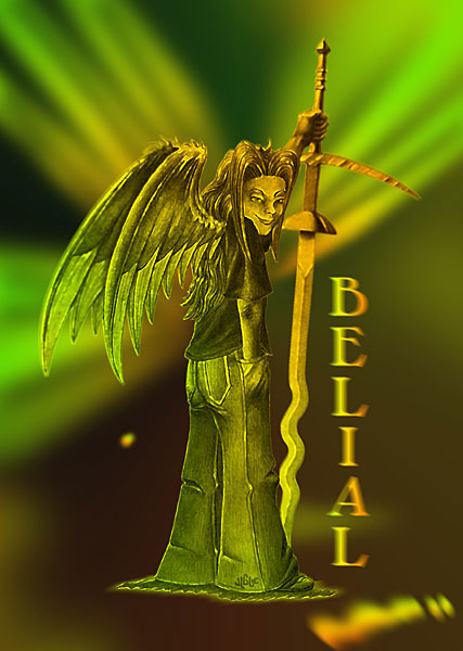 Fantasy art / comic illustration 'Belial': Belial, the fallen angel disguised as a child