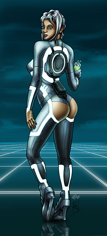 Fantasy Art and Comics: Bluette dressed as a Tron Legacy siren
