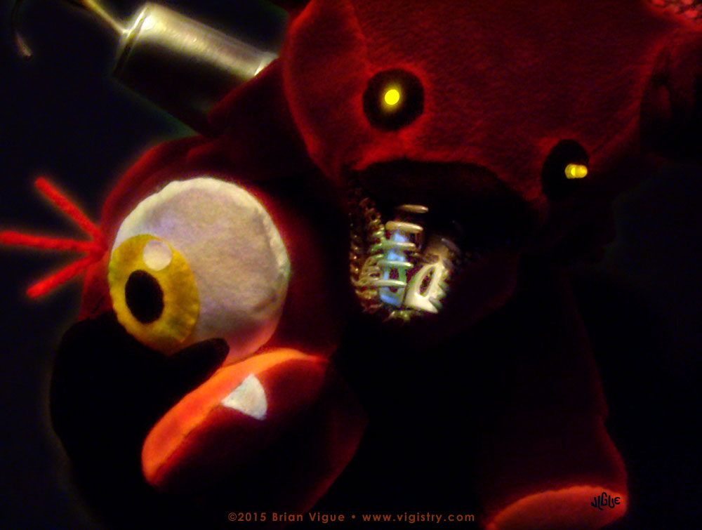 Fantasy art / comic illustration 'FNAF: Sweet Dreams Foxy': Foxy pirate plushie from Five Nights at Freddy's (FNAF) DLC