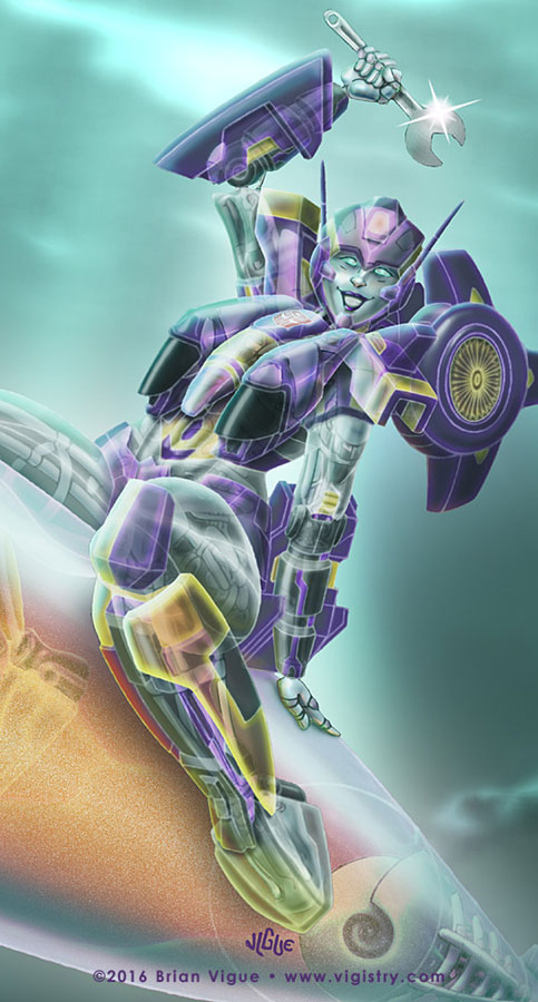 Fantasy art / comic illustration 'Lost Light Nautica': Nautica from Transformers Lost Light, More Than Meets the Eye, MTMTE