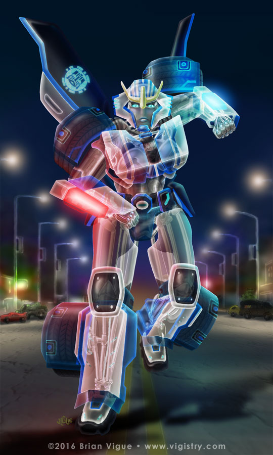 Fantasy art / comic illustration 'Robots in Disguise Strongarm': Strongarm from Transformers Robots in Disguise (RiD)