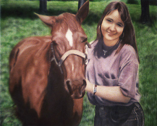 Fantasy art / comic illustration 'Susan': A farm girl and her horse