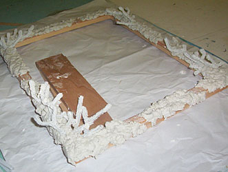 Plaster coral frame in progress