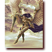 "Fantasy Art entitled ""Akroma, Angel of Wrath"": Art of Akroma, Angel of Wrath, from Magic: the Gathering (skeakroma)"