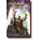 "Fantasy Art entitled ""Archmage of the Universe"": Solarrin the minotaur conjures furious magic in Archmage of the Universe"