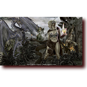 Dragons: Die Happy: Bluette, Celest, and Centura storm the bone fortress, fighting off skull riders and demon dogs in an epic battle