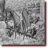 "Pencil Drawings entitled ""Divinity Sweatshop"": Orcs popping the joints of a prisoner damsel on a torture rack."