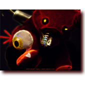 "Fan Art entitled ""FNAF: Sweet Dreams Foxy"": Foxy pirate plushie from Five Nights at Freddy's (FNAF) DLC"
