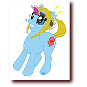 "Fan Art entitled ""My Little Bluette"": Bluette as a My Little Ponies unicorn"