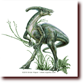 "Pencil Drawings entitled ""Parasaurolophus"": Parasaurolophus"