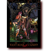 Featured Work: Want Some MORE Candy?: The Apocrypha girls dressed for a sexy Halloween party