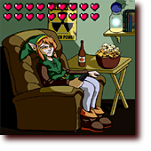"Comic Illustrations entitled ""What Link Does Between Quests"": What Legend of Zelda's Link does between quests"